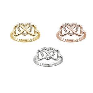 I Love You Interlocking Heart Ring